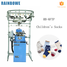 "3.75"" automatic computer flat wool children's toe sock knitting making machine price for terry and plain"