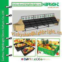 Various Layers Fruit and Vegetable Visualized Display Rack