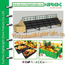 Разные слои Фруктовая и овощная визуализированная стойка дисплея