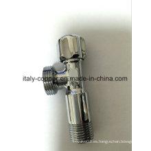 Válvula de ángulo cromada de latón de calidad certificada ISO9001 (IC-3029)