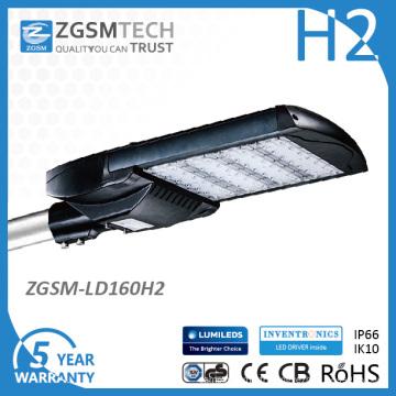 Lumières de route de 347VAC 160 watts LED avec EMC LVD