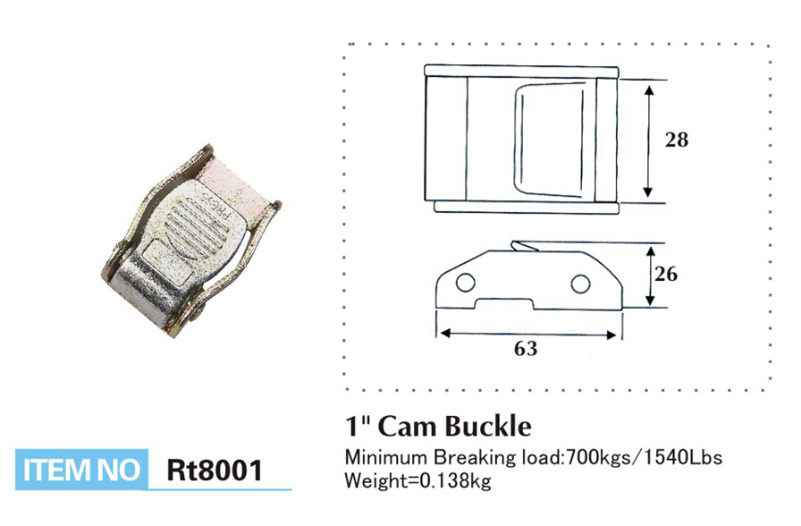 Cam Buckle Size