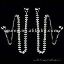 Courroies en cuir de diamant en métal (GBRD0165)