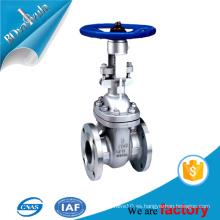 ANSI b16.5 válvula de puerta de acero fundido para la industria de aceite de agua con rueda de mano