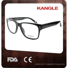 2017 NOUVELLE lunettes hommes en acétate, montures optiques en acétate