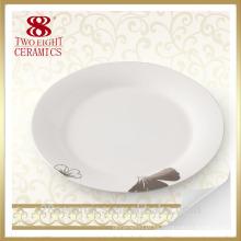 Comercio al por mayor de porcelana ecológica, plato barato de porcelana