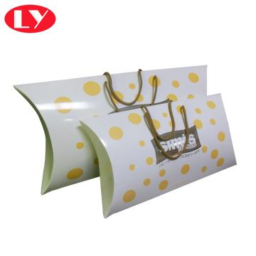 Roupas de bebê embalagem caixa de travesseiro com alça