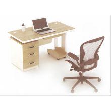 Escritorio de oficina de mesa de oficina de descuento 2014 nueva moda simple moderno en tablero de melamina de china foshan