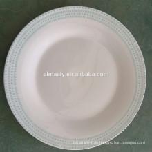 Großhandelsmassenteller, chinesische Porzellanplatte, kundenspezifischer großer Teller