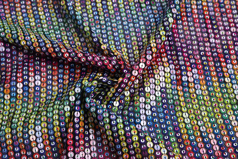 Sequin Embroidery Fabric For Dress