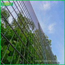 Hot selling welded gate designs double wire mesh fence with sliding gate with low price