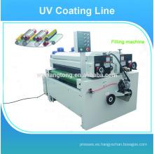 Paneles de madera UV pintura de alto brillo máquina / línea