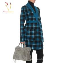 2016 últimos diseños de la capa de lana larga para las mujeres