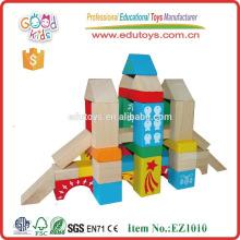 EZ1010 88pcs Recursos de Aprendizaje Patrón Impreso Bloques de Construcción de Madera