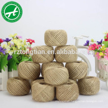 Natural raw hemp rope twisted sisal rope for gift packaging and party&home decoration