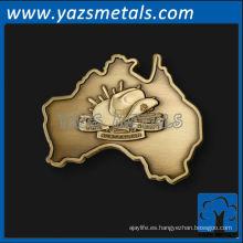 logotipo del mapa del metal de encargo 1 etiqueta