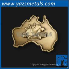 custom metal map logo 1 label