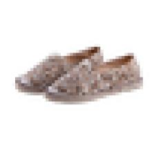 Leopard canvas fashion espadrille women shoes Jute sole slip on casual shoes