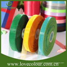 Factory custom gift sheer ribbon packing organza ribbon