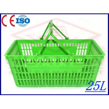 Yd-B1 Plastic Shopping Basket Has Different Colour and Style