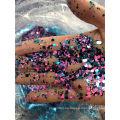 Polvo de brillo de confeti tamaño mixto para adornos artesanales hojuelas de brillo formas de arte de uñas