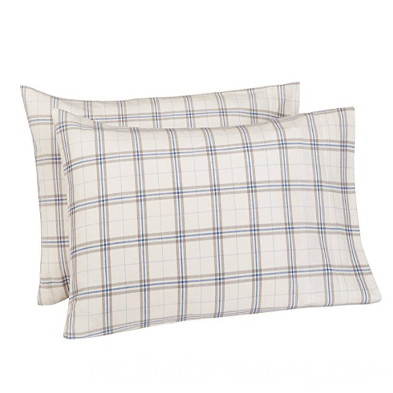 Cotton Plaid Pillowcase Slips