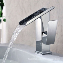 New style bathroom brass waterfall faucet single handle deck mounted mixer taps