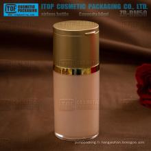 ZB-BM série 30ml, 50ml, 80ml spécial conçu miroir PAC pompe airless acrylique en plastique bouteille