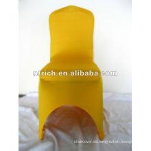 Cubierta de la silla de 220gsm oro lycra, CTS916, aptos para las sillas, boda, banquete, cubierta de la silla de hotel, marco y tabla de paño