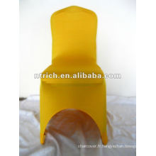 Couverture de chaise de lycra or 220gsm, CTS916, propres à tous les fauteuils, mariage, banquet, couverture de chaise d'hôtel, châssis et table tissu