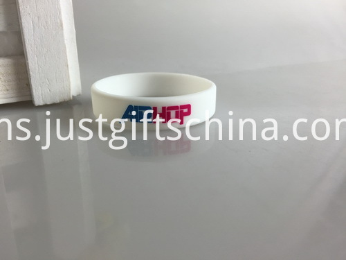 Promotional Child Printed Silicone Bracelets - 150mmx12mmx2mm