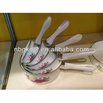 12-20cm enamel saucepan sets with bakelite handle