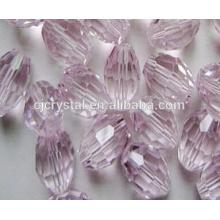Perles de verre colorées en cristal de perles ovales