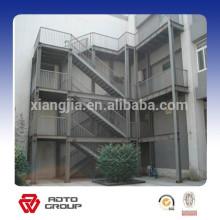 outside industry steel stairs