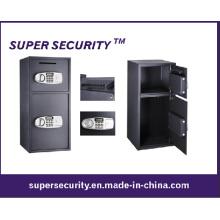 Doble puerta Depósito Digital caja fuerte con dinero en efectivo gota (STB38)