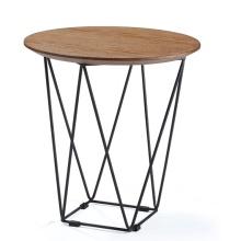 Modernes Metall Einzigartiges rundes Restaurant Kaffee Holztische