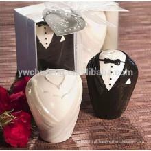 Cerâmica Noiva e noivo Sal e pimenta Shaker Presentes de casamento