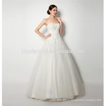 Venta al por mayor tp calidad nueva moda China por encargo cap manga encaje vestido de novia del sexo