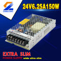 High power factor 2500mA 24v led smps AC DC metal case 24v led smps