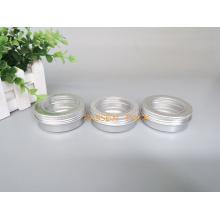 2oz recipiente de metal alumínio com tampa do parafuso da janela do animal de estimação (PPC-ATC-60)