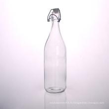 Bouteille de jus en verre clair 33 oz