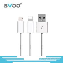 Datos de alta calidad de fábrica que cargan el cable del USB de 8pin / Micro Sync