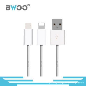 TPE 2 in 1 USB Data Cable for Mobile Phone