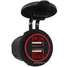 Dual USB Charger Adapter Socket Power Outlet 12V 24V LED Motorcycle Marine Car