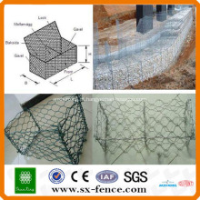 ISO9001: 2008 fabricante profissional de PVC revestido e caixa de gabião barato Galvanizado
