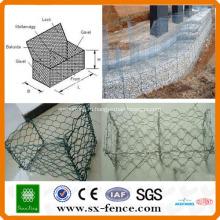 ISO9001:2008 профессиональный производитель ПВХ покрытием и оцинкованную дешевые коробки gabion