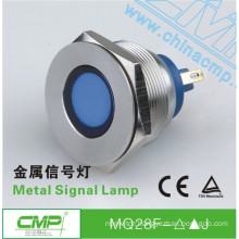 CMP Stainless Steel vandalproof LED Signal Lamp 12 volt led blue