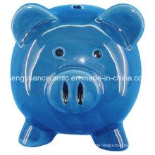 Kind-Anstrich-DIY Tier-keramisches Spielzeug, Piggy Querneigung