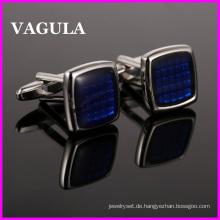 VAGULA Qualität Messing Silber Manschettenknöpfe (HL10124)