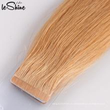 Оптовая 9А русский ленточное наращивание волос Реми дважды обращается ленты в наращивание волос Девы человеческих волос ленты